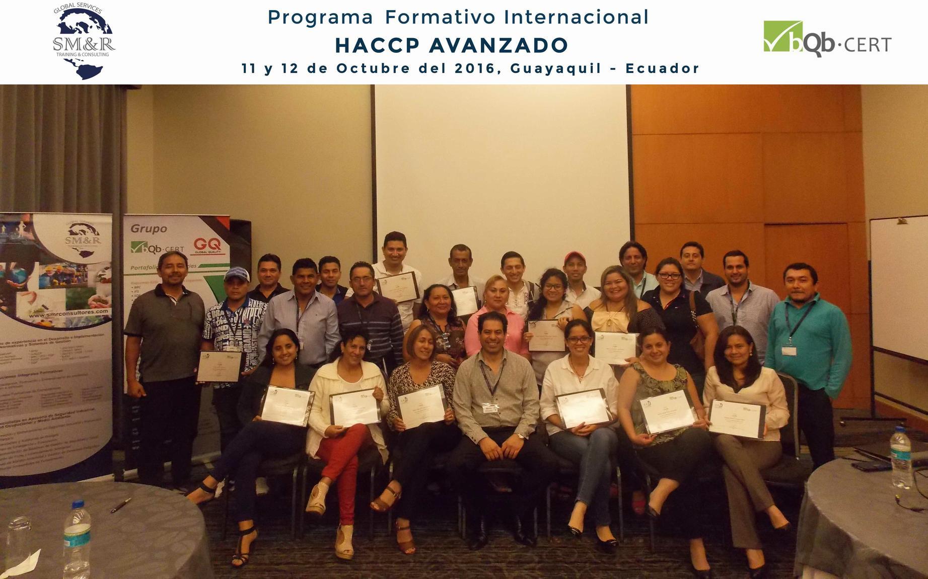 Programa Internacional HACCP Avanzado Octubre 2016 - Guayaquil